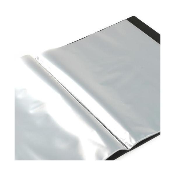 クリアファイル A4 20ポケット ブラック SOLID シンプル 公式通販サイト edc 02