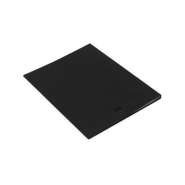 クリアファイル A4 20ポケット ブラック SOLID シンプル 公式通販サイト edc 03