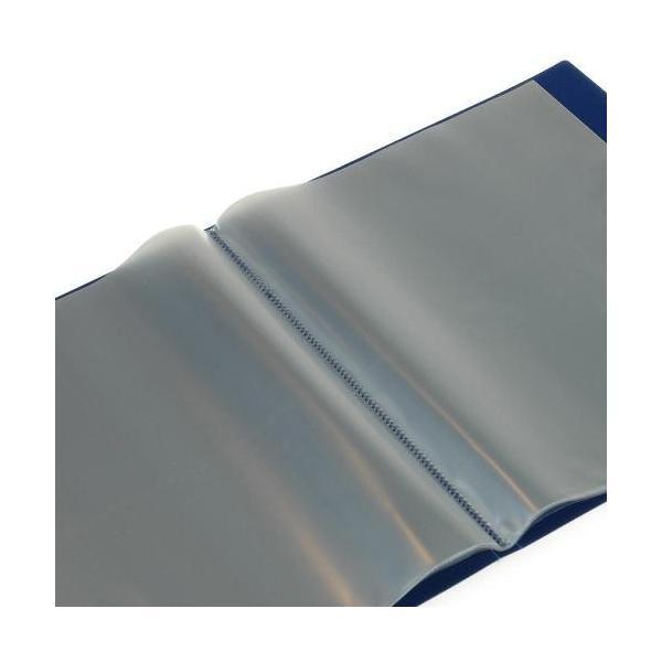 クリアファイル A4 20ポケット インディゴ SOLID シンプル 公式通販サイト|edc|02