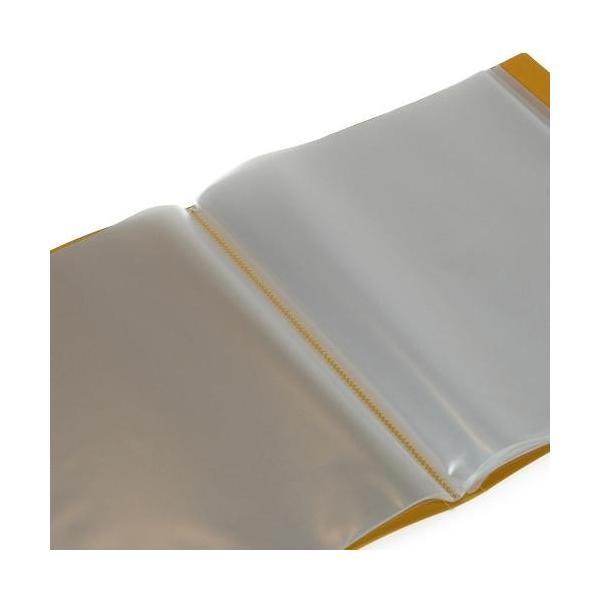 クリアファイル A4 40ポケット マスタード SOLID シンプル 公式通販サイト|edc|02