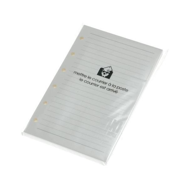 [メール便可] ミニ6穴リフィル 100シート 罫線5mm アイボリー ルーズリーフ シンプル 公式通販サイト