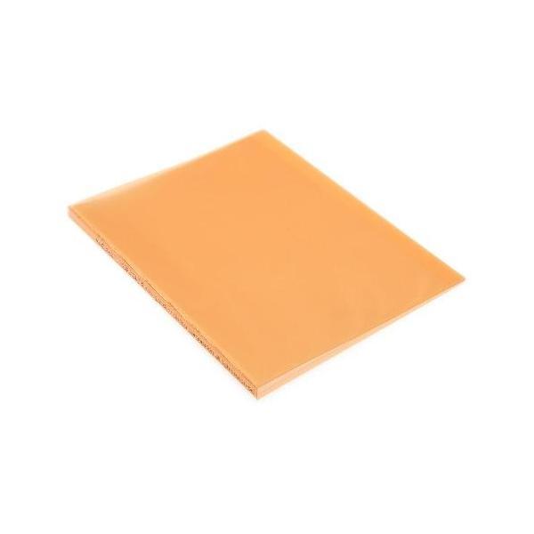 クリアファイル A4 20ポケット オレンジ TRANSPARENCY 透明 シンプル 公式通販サイト edc