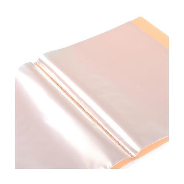クリアファイル A4 20ポケット オレンジ TRANSPARENCY 透明 シンプル 公式通販サイト edc 02