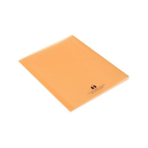 クリアファイル A4 20ポケット オレンジ TRANSPARENCY 透明 シンプル 公式通販サイト edc 03