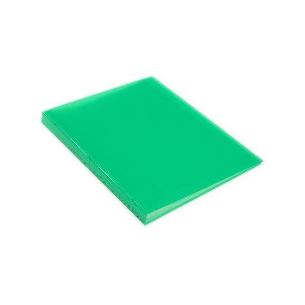 クリアファイル A4 40ポケット グリーン TRANSPARENCY 透明 シンプル 公式通販サイト|edc