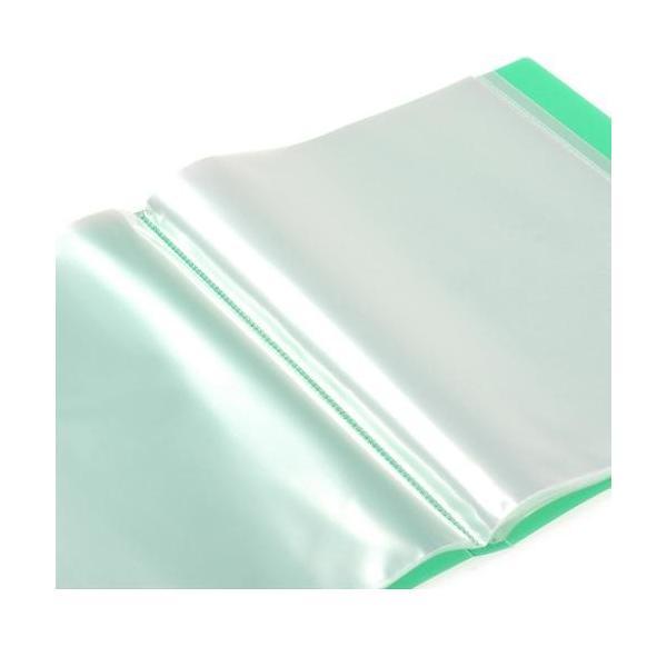 クリアファイル A4 40ポケット グリーン TRANSPARENCY 透明 シンプル 公式通販サイト|edc|02