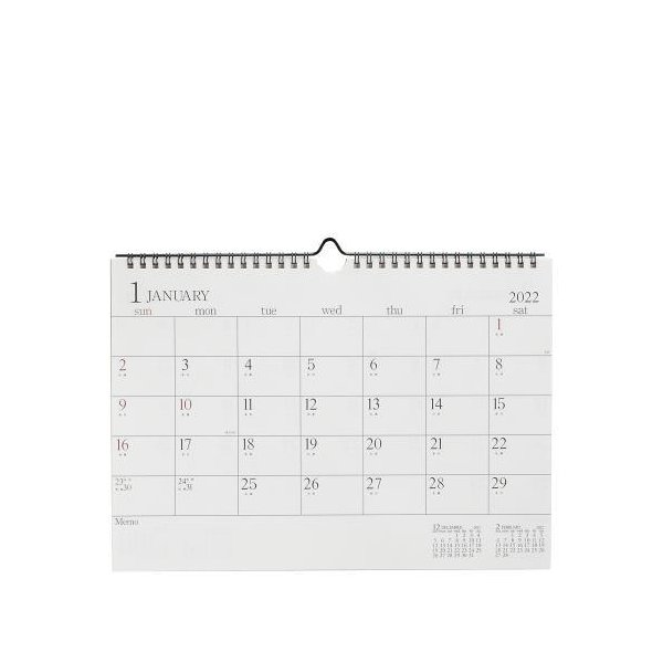 A4カレンダー[CAL] アイボリー|edc