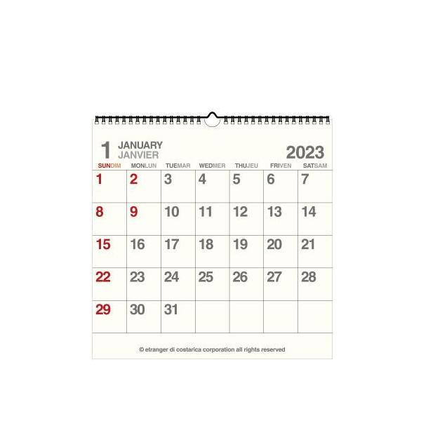 カレンダー 壁掛け LP 2020年 1月始まり アイボリー シンプル 公式通販サイト|edc
