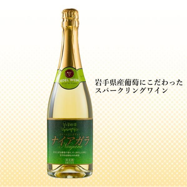 エーデルワイン 星の果樹園ナイアガラ 白 スパークリングワイン 辛口 edelwein 02