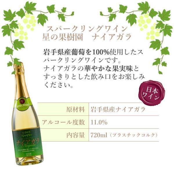エーデルワイン 星の果樹園ナイアガラ 白 スパークリングワイン 辛口 edelwein 05
