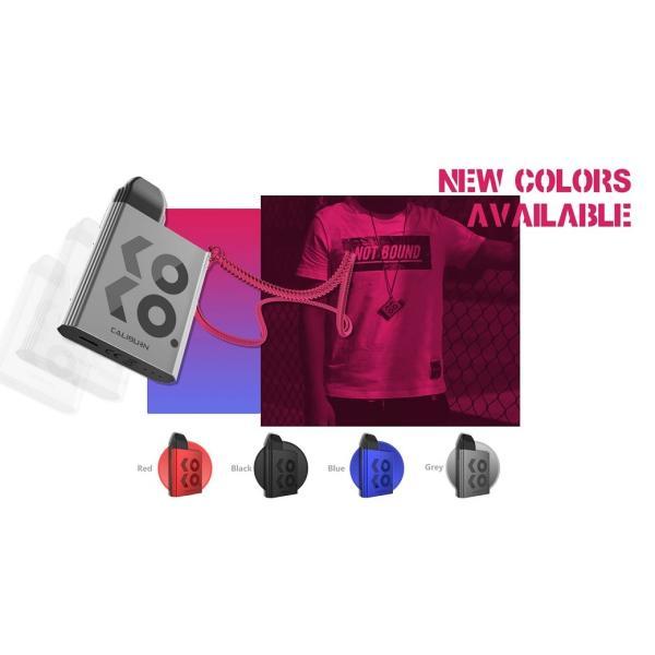 【選べる氷結リキッド15ml 2本付き!!】Caliburn KOKO Portable System Kit 520mAh 2ml カリバーン ココ 電子タバコ スターターキット ベイプ 本体  [M-8]|edgejp|02