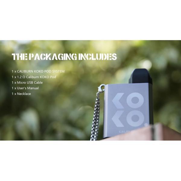 【選べる氷結リキッド15ml 2本付き!!】Caliburn KOKO Portable System Kit 520mAh 2ml カリバーン ココ 電子タバコ スターターキット ベイプ 本体  [M-8]|edgejp|13