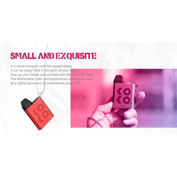 【選べる氷結リキッド15ml 2本付き!!】Caliburn KOKO Portable System Kit 520mAh 2ml カリバーン ココ 電子タバコ スターターキット ベイプ 本体  [M-8]|edgejp|04
