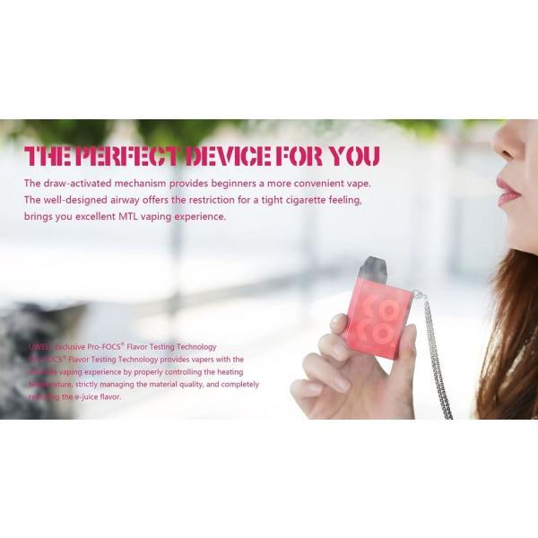 【選べる氷結リキッド15ml 2本付き!!】Caliburn KOKO Portable System Kit 520mAh 2ml カリバーン ココ 電子タバコ スターターキット ベイプ 本体  [M-8]|edgejp|06