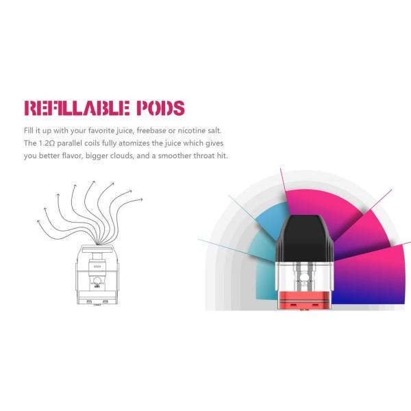 【選べる氷結リキッド15ml 2本付き!!】Caliburn KOKO Portable System Kit 520mAh 2ml カリバーン ココ 電子タバコ スターターキット ベイプ 本体  [M-8]|edgejp|07