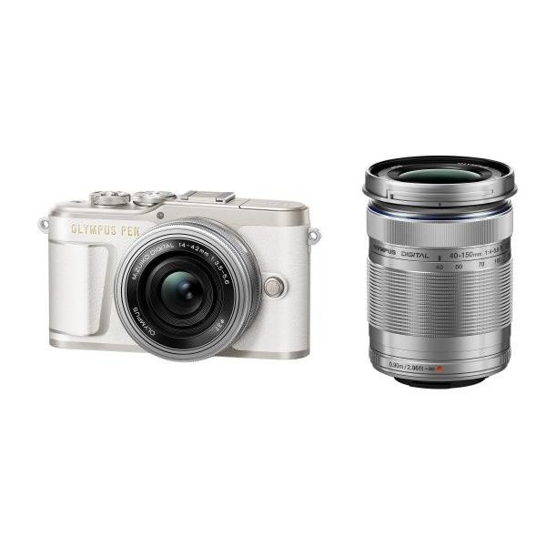 オリンパス デジタル一眼カメラ・EZダブルズームキット ホワイト PEN E-PL9 EZWZKWHT [EPL9WZKWHT]