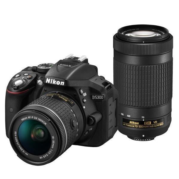 ニコン デジタル一眼レフカメラ・AF-P ダブルズームキット ブラック D5300WZ3 [D5300WZ3]