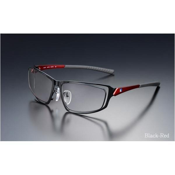 ニデック G-SQUAREアイウェア Professional Model フルリム C2FGEG6RENP5609 フレーム:レッド、レンズ:グレーの画像