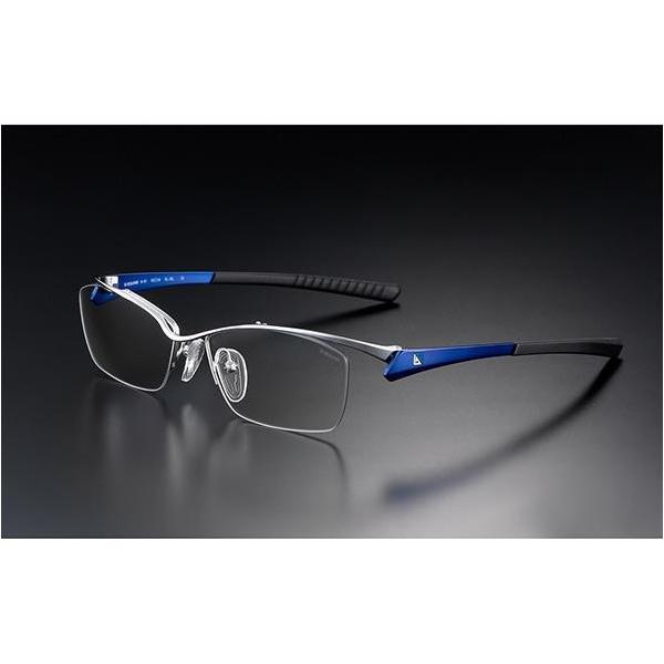 ニデック G-SQUAREアイウェア Professional Model ナイロール C2FGENGDBNP7115 フレーム:ブルー、レンズ:グレーの画像