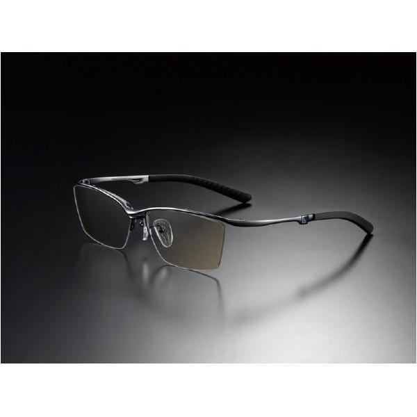 ニデック G-SQUAREアイウェア Casual Model ナイロール C2FGEN4BLNP8969 フレーム:ブラック、レンズ:ワインレッドの画像