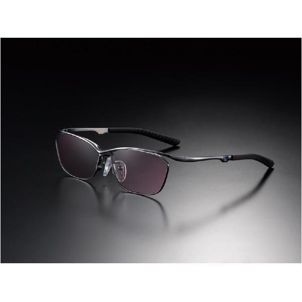 ニデック G-SQUAREアイウェア Casual Model フルリム C2FGEF4BLNP9201 フレーム:ブラック、レンズ:ワインレッドの画像