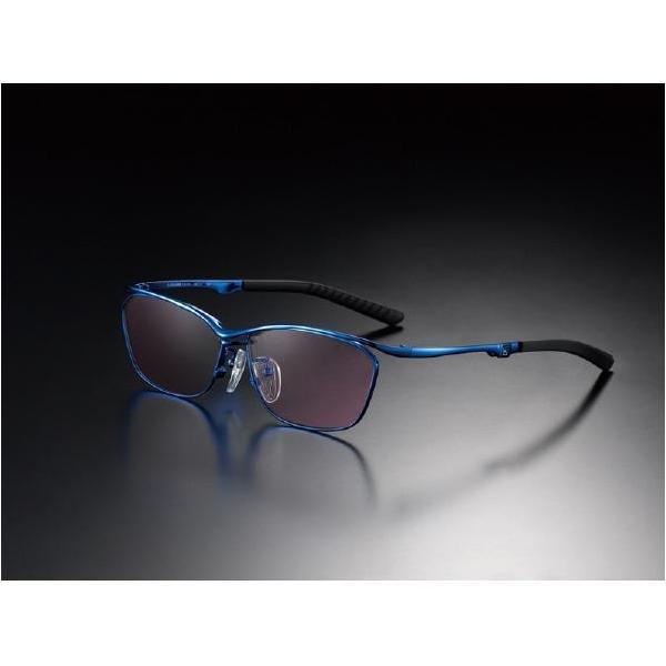 ニデック G-SQUAREアイウェア Casual Model フルリム C2FGEF4BUNP9232 フレーム:ブルー、レンズ:ワインレッドの画像