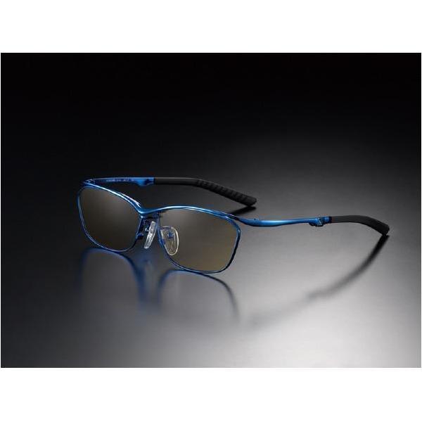 ニデック G-SQUAREアイウェア Casual Model フルリム C2FGEF4BUNP9249 フレーム:ブルー、レンズ:ブラウンの画像