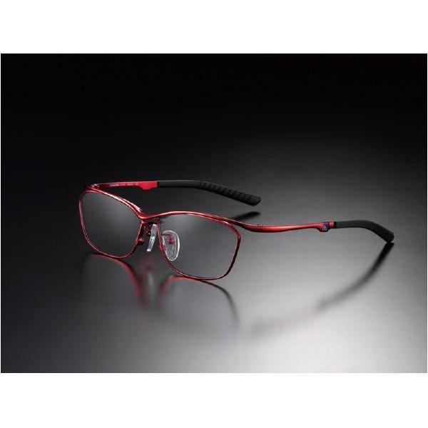 ニデック G-SQUAREアイウェア Casual Model フルリム C2FGEF4RENP9256 フレーム:レッド、レンズ:グレーの画像