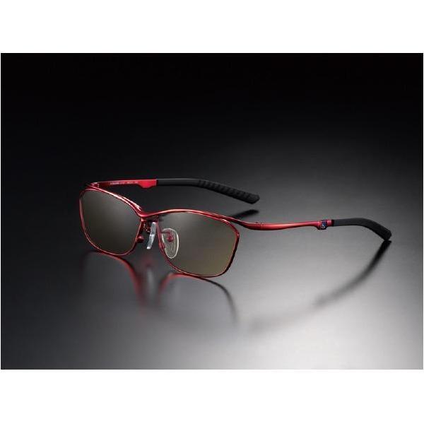 ニデック G-SQUAREアイウェア Casual Model フルリム C2FGEF4RENP9270 フレーム:レッド、レンズ:ブラウンの画像