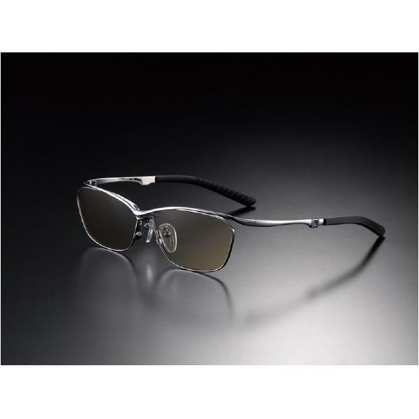 ニデック G-SQUAREアイウェア Casual Model フルリム C2FGEF4SVNP9331 フレーム:シルバー、レンズ:ブラウンの画像
