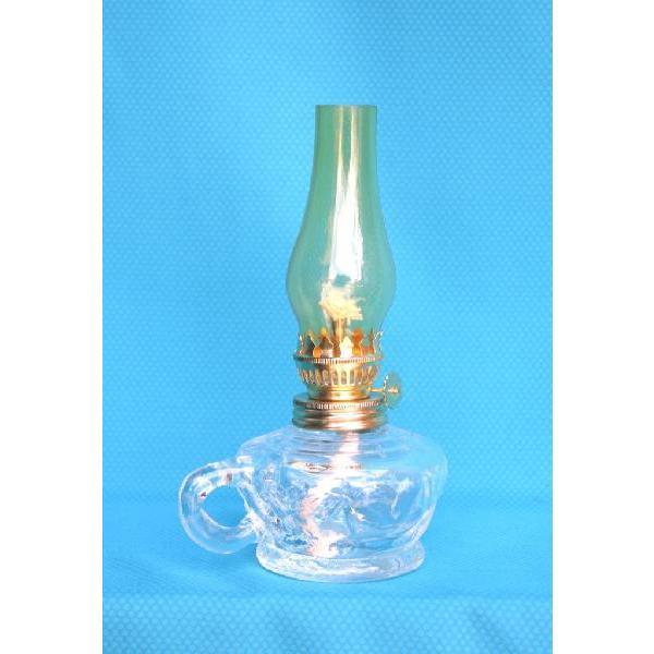 棒芯手燭燈スタンドランプアンバーホヤ  19720  灯油ランプ
