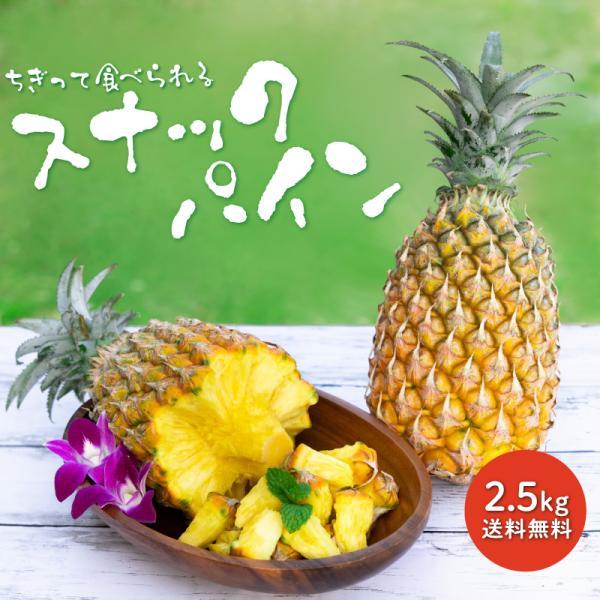 送料無料 沖縄産 スナックパイン  2.5kg(2〜5玉)産地直送、フルーツ 果物(くだもの)(パイナップル)沖縄 (お土産)|パイン|