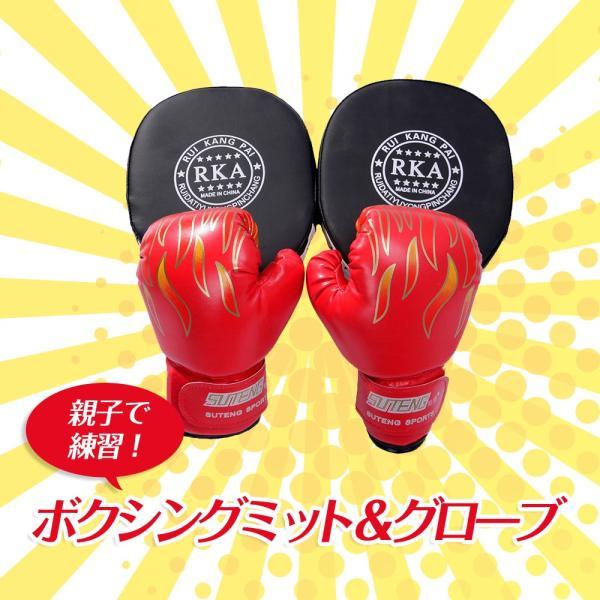 ボクシング セット ミット グローブ 親子 で 練習 トレーニング ストレス 解消|edunamay-shop2|02