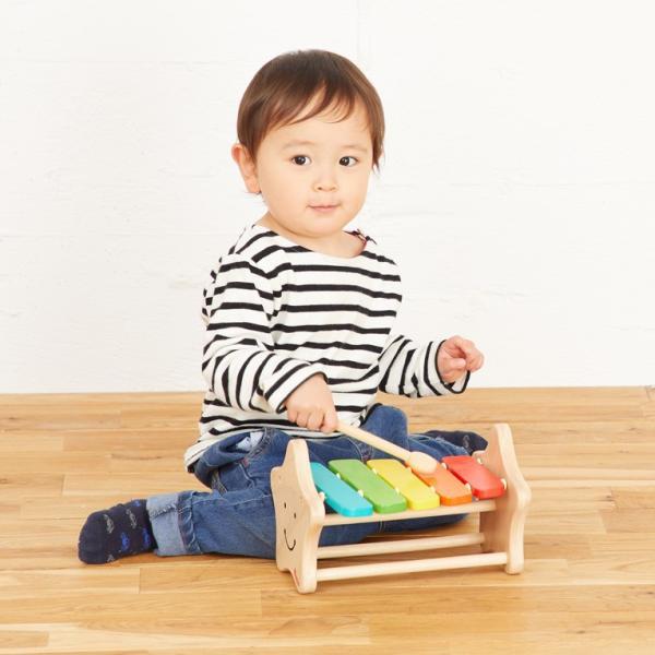 1歳 2歳 誕生日プレゼント 男 女 音が出る 知育玩具 木のおもちゃ 木 おもちゃ 木製 木琴 楽器玩具 スマイリーシロフォン VOILA ボイラ|edute|15