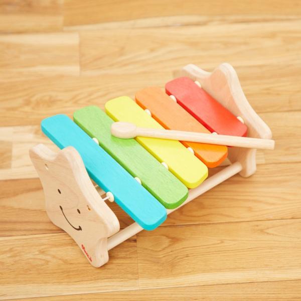 1歳 2歳 誕生日プレゼント 男 女 音が出る 知育玩具 木のおもちゃ 木 おもちゃ 木製 木琴 楽器玩具 スマイリーシロフォン VOILA ボイラ|edute|16