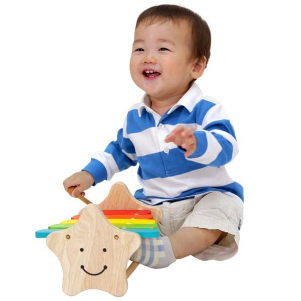 1歳 2歳 誕生日プレゼント 男 女 音が出る 知育玩具 木のおもちゃ 木 おもちゃ 木製 木琴 楽器玩具 スマイリーシロフォン VOILA ボイラ|edute|05