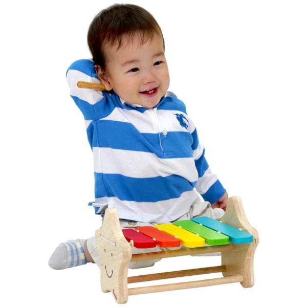 1歳 2歳 誕生日プレゼント 男 女 音が出る 知育玩具 木のおもちゃ 木 おもちゃ 木製 木琴 楽器玩具 スマイリーシロフォン VOILA ボイラ|edute|06