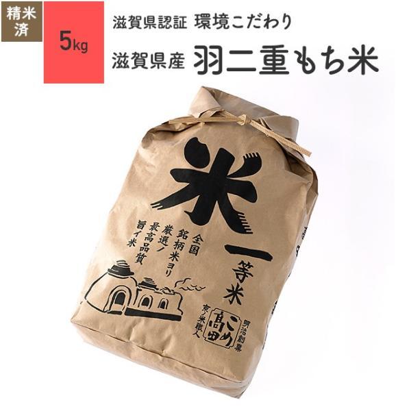 羽二重もち米 5kg 滋賀県産 減農薬 令和2年産