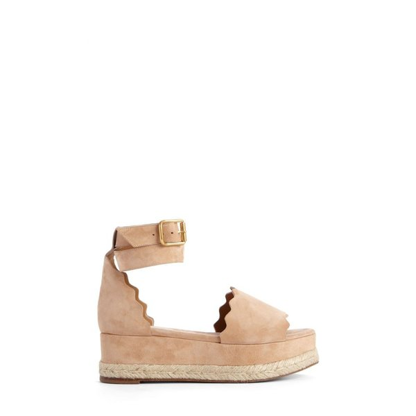 クロエ CHLOE レディース エスパドリーユ シューズ・靴 Lauren Espadrille Wedge Sandal