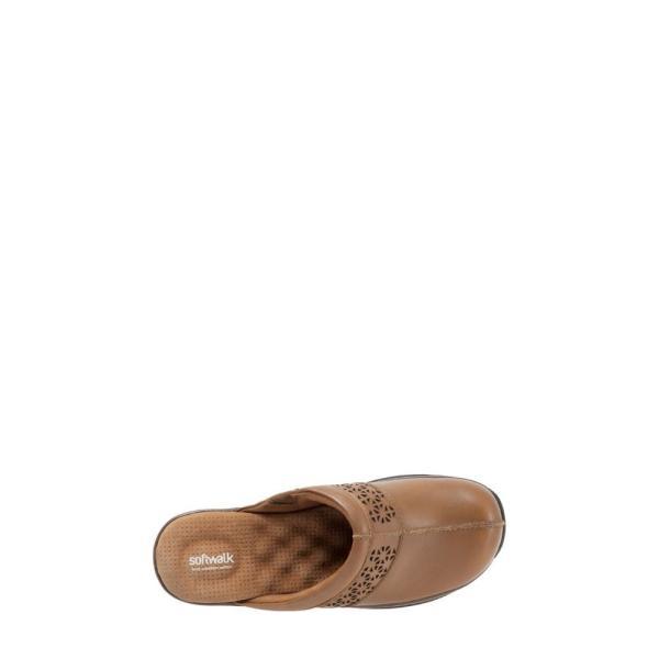 ソフトウォーク SOFTWALK レディース クロッグ シューズ・靴 'Abby' Clog Cognac Leather