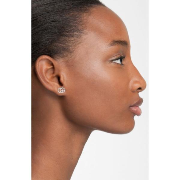 グッチ GUCCI レディース イヤリング・ピアス ジュエリー・アクセサリー Double-G Stud Earrings White Gold