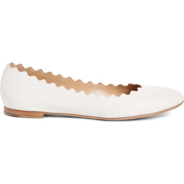クロエ CHLOE レディース スリッポン・フラット シューズ・靴 'Lauren' Scalloped Ballet Flat