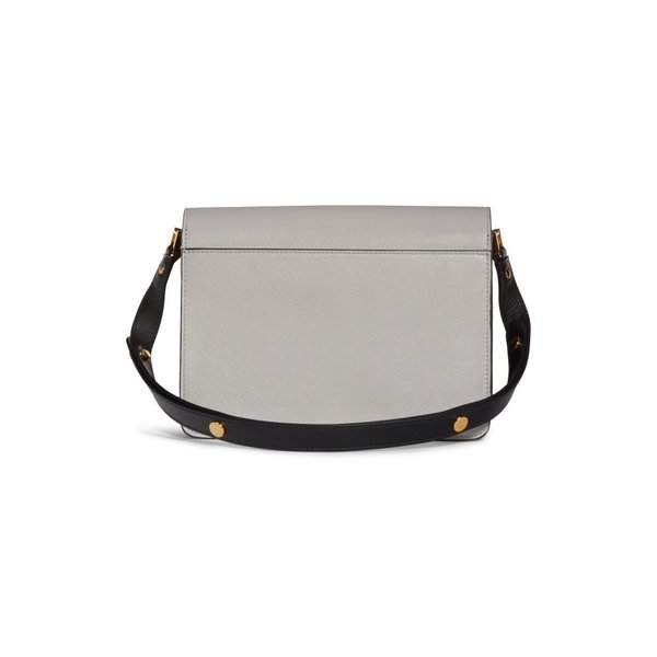 マルニ MARNI レディース ショルダーバッグ バッグ Medium Trunk Colorblock Leather Shoulder Bag Pelican/ Cigar/ Black