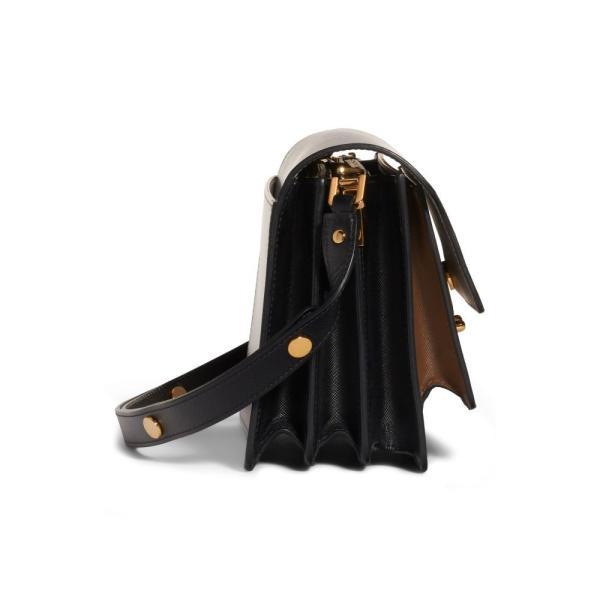 マルニ MARNI レディース ショルダーバッグ バッグ Medium Trunk Colorblock Leather Shoulder Bag Pelican/ Cigar/ Black