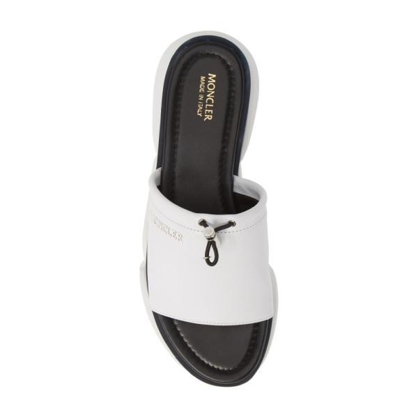 モンクレール MONCLER レディース サンダル・ミュール シューズ・靴 Zaira Platform Slide Sandal White