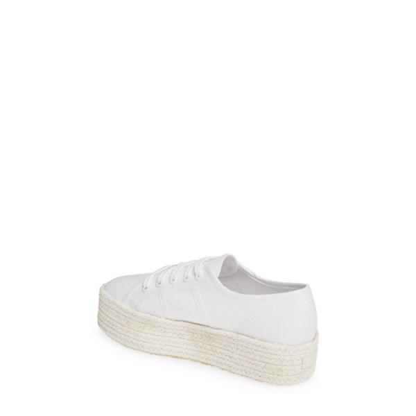 スペルガ SUPERGA レディース エスパドリーユ シューズ・靴 Cotcoloropew Espadrille Sneaker White Tonal
