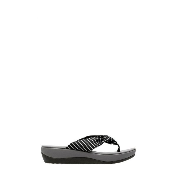 クラークス CLARKS レディース ビーチサンダル シューズ・靴 Arla Glison Flip Flop Black Printed Fabric