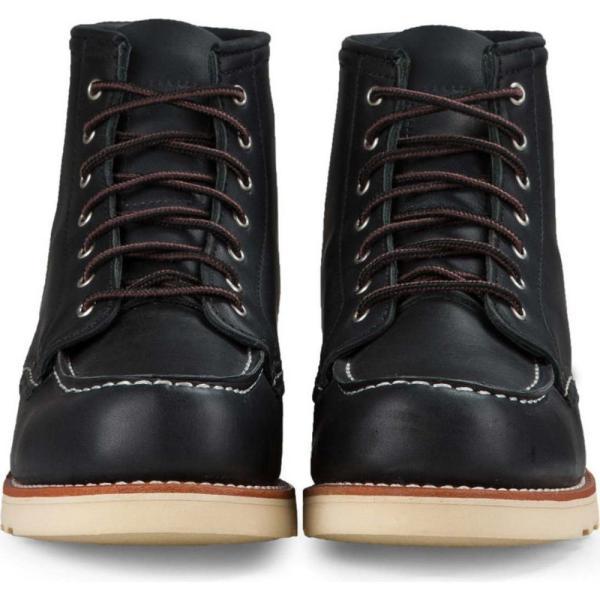 レッドウィング RED WING レディース ブーツ シューズ・靴 6-Inch Moc Boot Black Boundary Leather