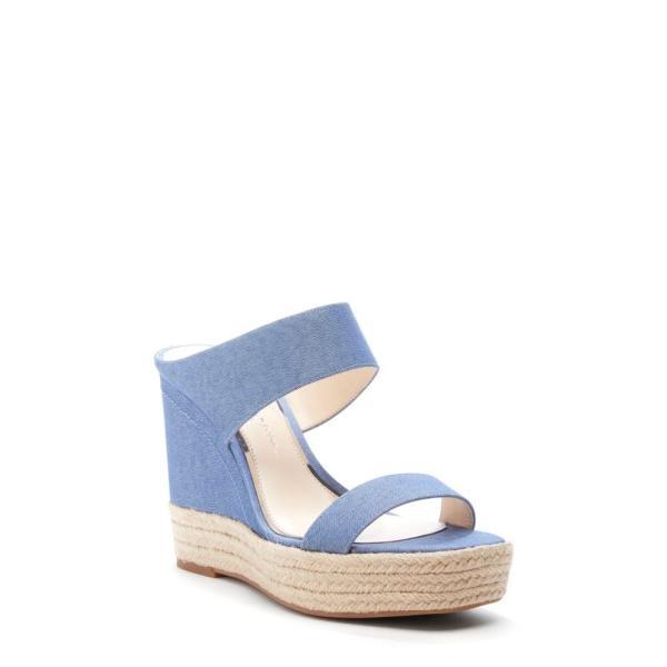 ジェシカシンプソン JESSICA SIMPSON レディース エスパドリーユ シューズ・靴 Siera Espadrille Wedge Slide Sandal Cool Blue