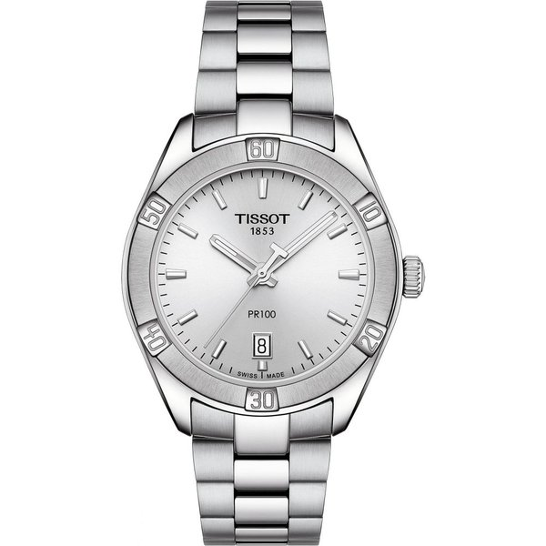 ティソ TISSOT レディース 腕時計 PR 100 Sport Chic Bracelet Watch, 36mm Silver